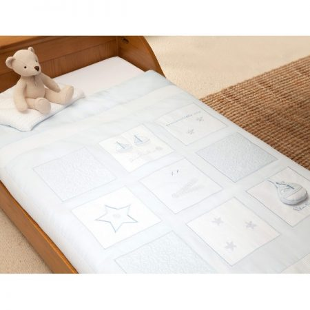 Silver Cross Luxury Cot / Cot Bed Quilt - Vintage Blue