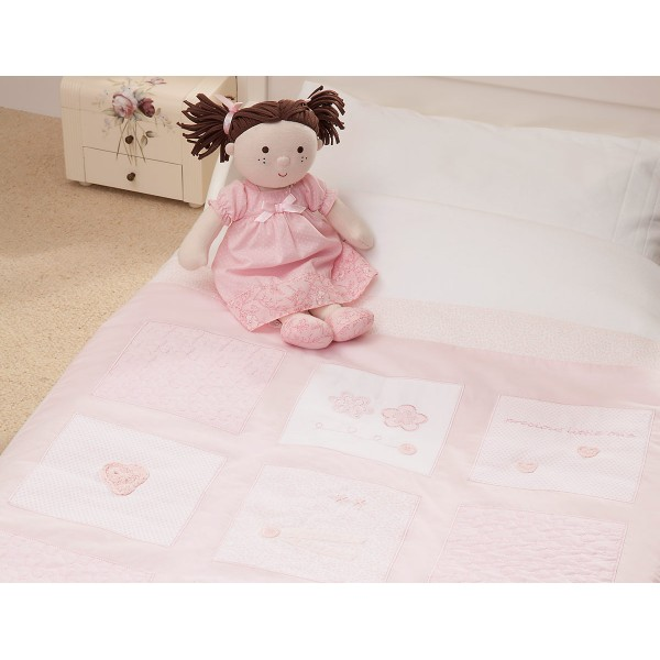 Silver Cross Luxury Cot / Cot  Bed Quilt - Vintage Pink