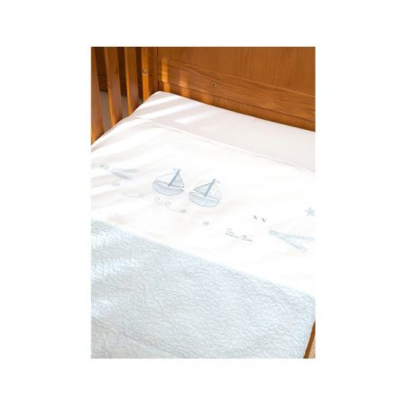 Luxury Hand Quilted Coverlet Vintage Blue