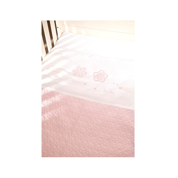 Luxury Hand Quilted Coverlet Vintage Pink
