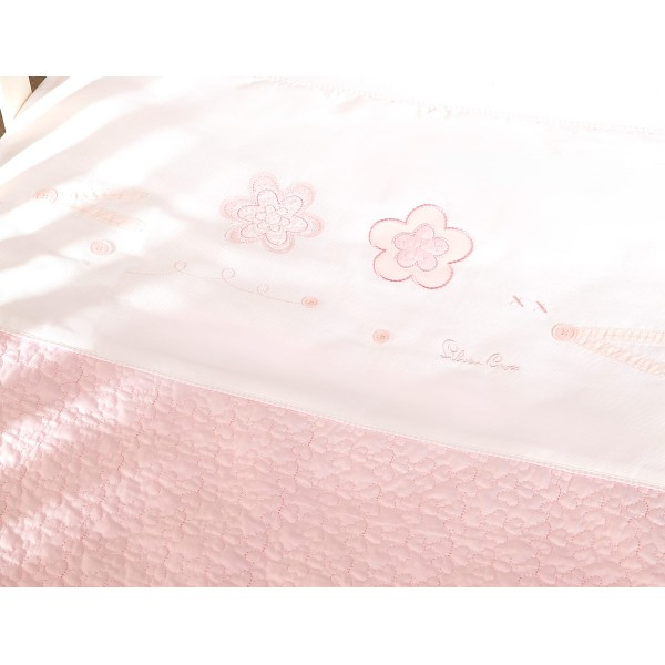 Silver Cross Luxury Hand Quilted Coverlet – Vintage Pink