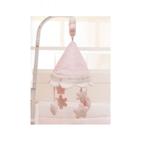 Luxury Musical Cot Mobile Vintage Pink