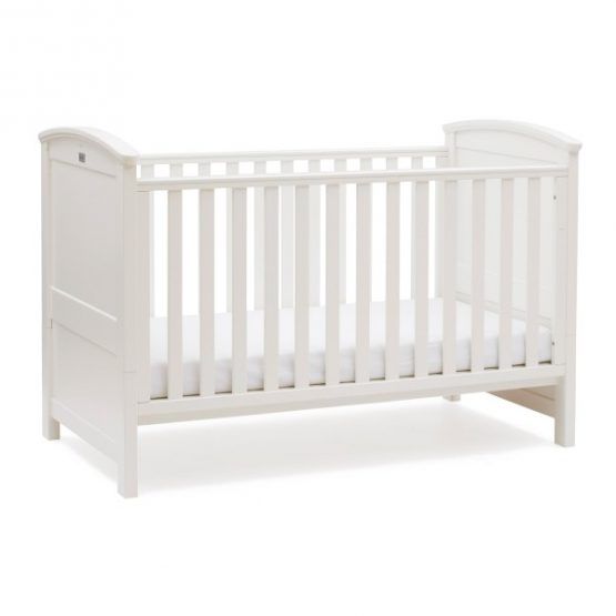 Ashby Style White Cot Bed and Dresser Set
