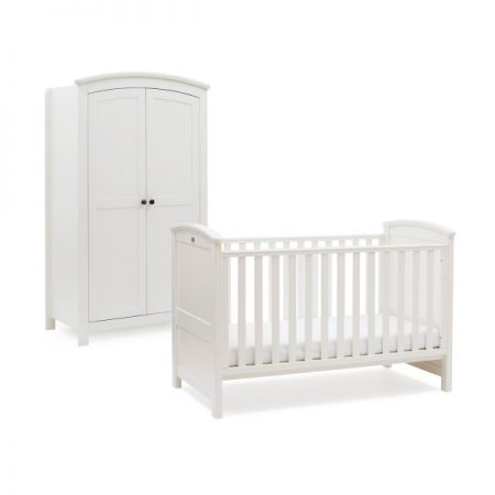 Ashby Style Cot Bed and Wardrobe Set