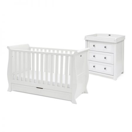 Nostalgia Sleigh Cot and Dresser Set