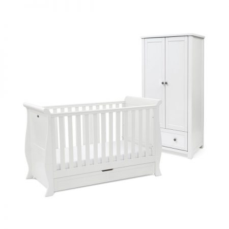 Nostalgia Sleigh Cot and Wardrobe Set