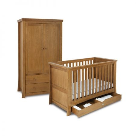 Canterbury Cot Bed and Wardrobe Set