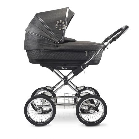 silver cross sleepover elegance carrycot in black