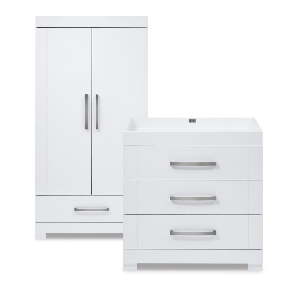 Notting Hill Dresser & Wardrobe Set by Silver Cross