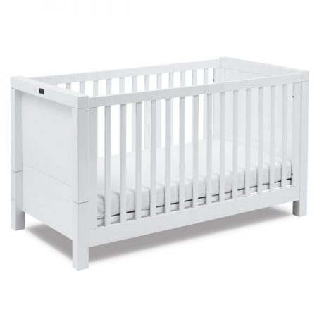Notting Hill White Gloss Cot Bed by Silver Cross
