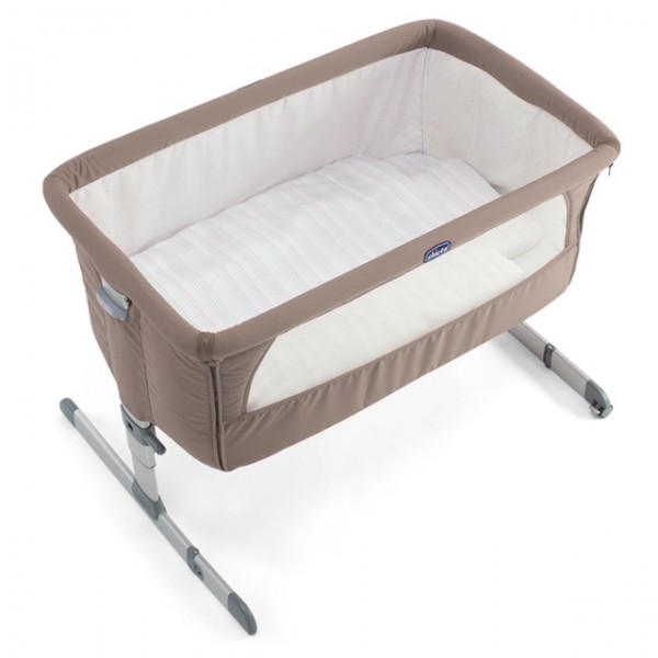Bed Side Baby Crib Chicco Next 2 Me Drop Side Dove Grey ...