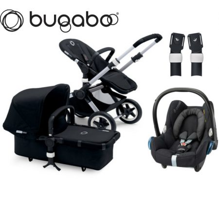 bugaboo buffalo black raven maxi cosi package