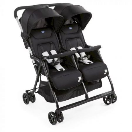 Chicco Ohlala Twin Double Pushchair From Birth - Black Night