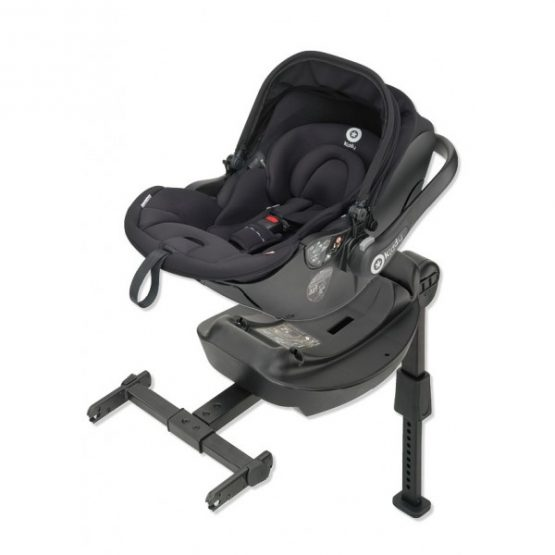 Kiddy Evolunafix Isofix Lie Flat Car Seat & Base Black