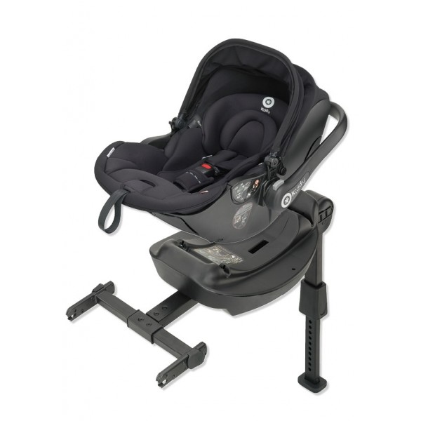 Kiddy Evo-Lunafix Black Lie Flat Car Seat / Carrier & Isofix Base