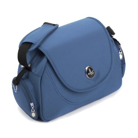 egg changing bag petrol blue