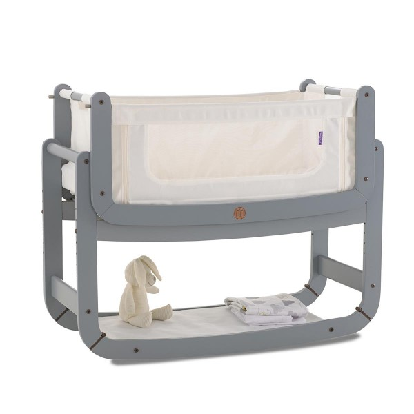 Snuzpod 2 Birth to 6 Months Bedside Crib Dove Grey