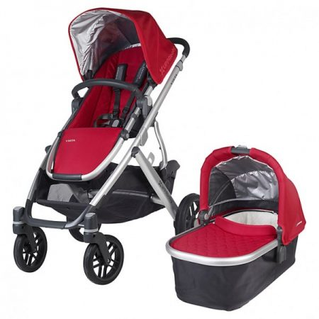 Uppababy Vista 2015 Pushchair & Carrycot Denny Red