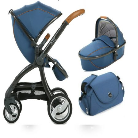petrol blue carrycot and pushchair
