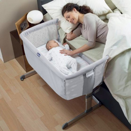 Bed Side Baby Crib Chicco Next 2 Me Drop Side Circles