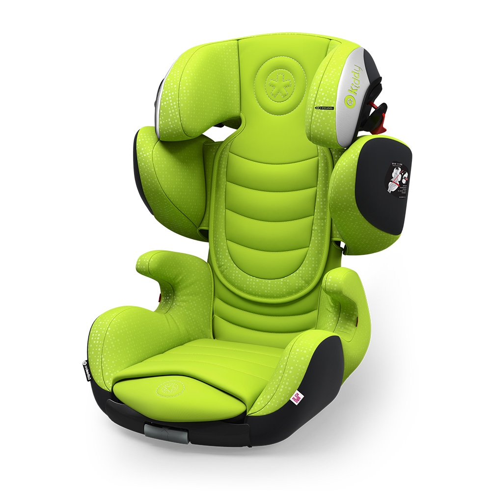 Kiddy Cruiserfix 3 Spring Lime Isofix Group 2 & 3 Child Car Seat 4 to 12 Years