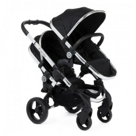 iCandy Peach Blossom Twin + 2 Twin Carrycots Black Magic 2