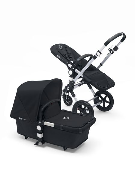 Bugaboo Cameleon3+ Pushchair & Carrycot - alu/ Black Base Leather Look Handle