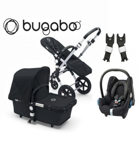 hauck rapid 4s pushchair carrycot car seat caviar. Black Bedroom Furniture Sets. Home Design Ideas