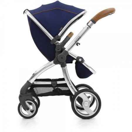 Egg Stroller Regal Navy with Mirror Frame Includes Seat Liner