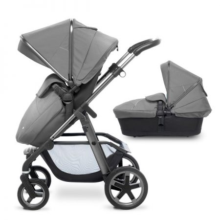 Silver Cross Graphite Pioneer with Carrycot + 2017 Silver Hood Pack