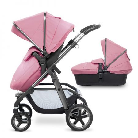 Silver Cross Graphite Pioneer with Carrycot + 2017 Vintage Pink Hood Pack