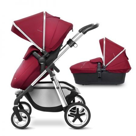 Silver Cross Chrome Pioneer with Carrycot + 2017 Vintage Red Hood Pack