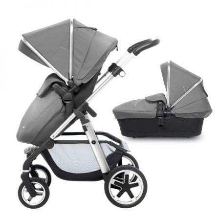 Silver Cross Chrome Pioneer with Carrycot + 2017 Silver Hood Pack