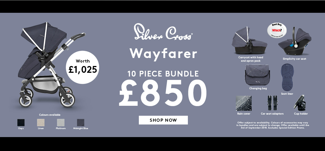 Silver Cross Wayfarer Bundle offer