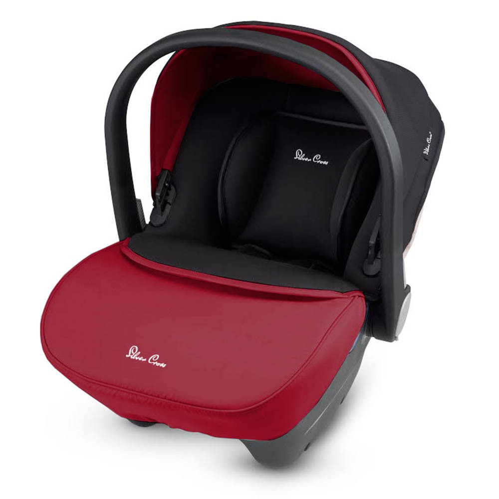 Silver cross simplicity car seat in vintage red