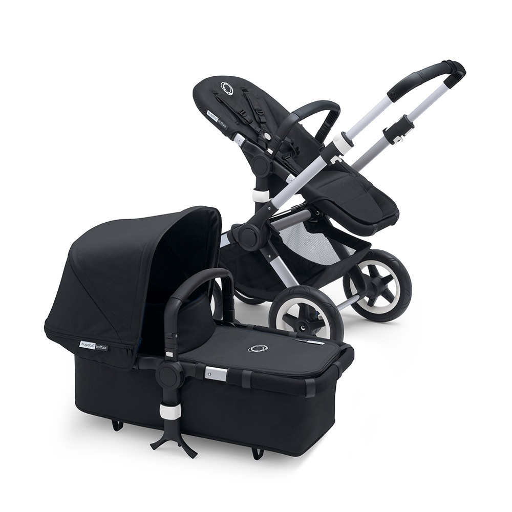 Bugaboo Buffalo+ Pushchair & Carrycot - Alu Chassis / Pick Your Colour Hood & Apron