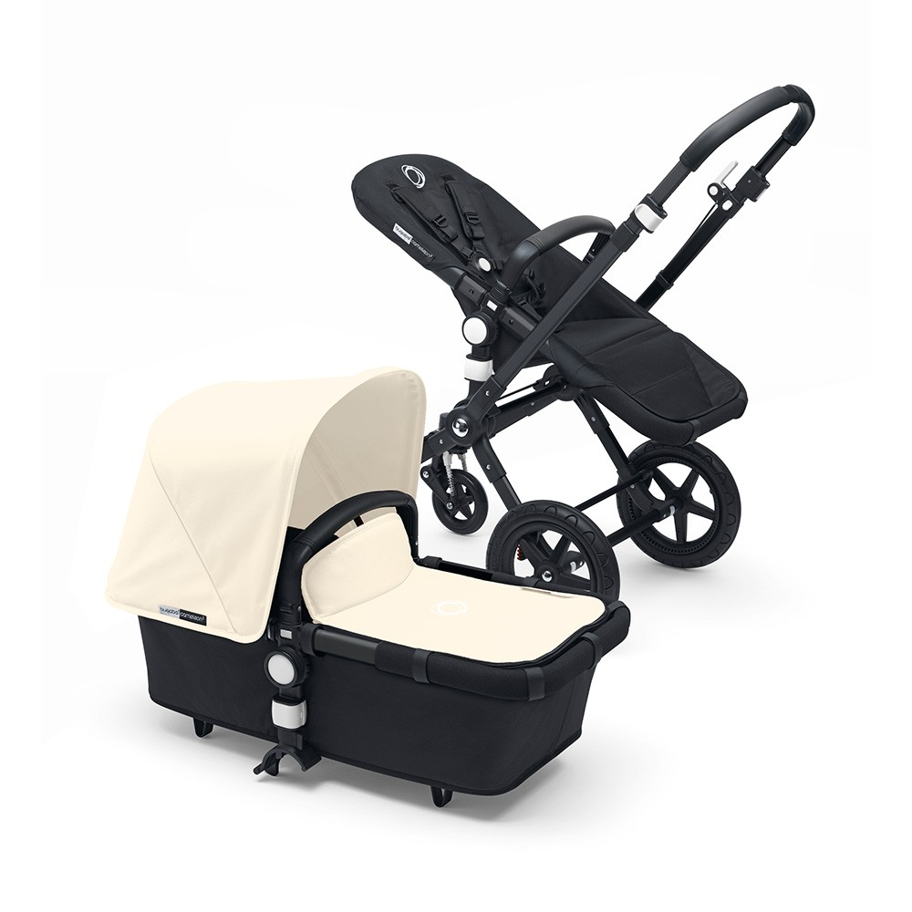 Bugaboo Cameleon 3 Pushchair Black Black Leather Look Handle