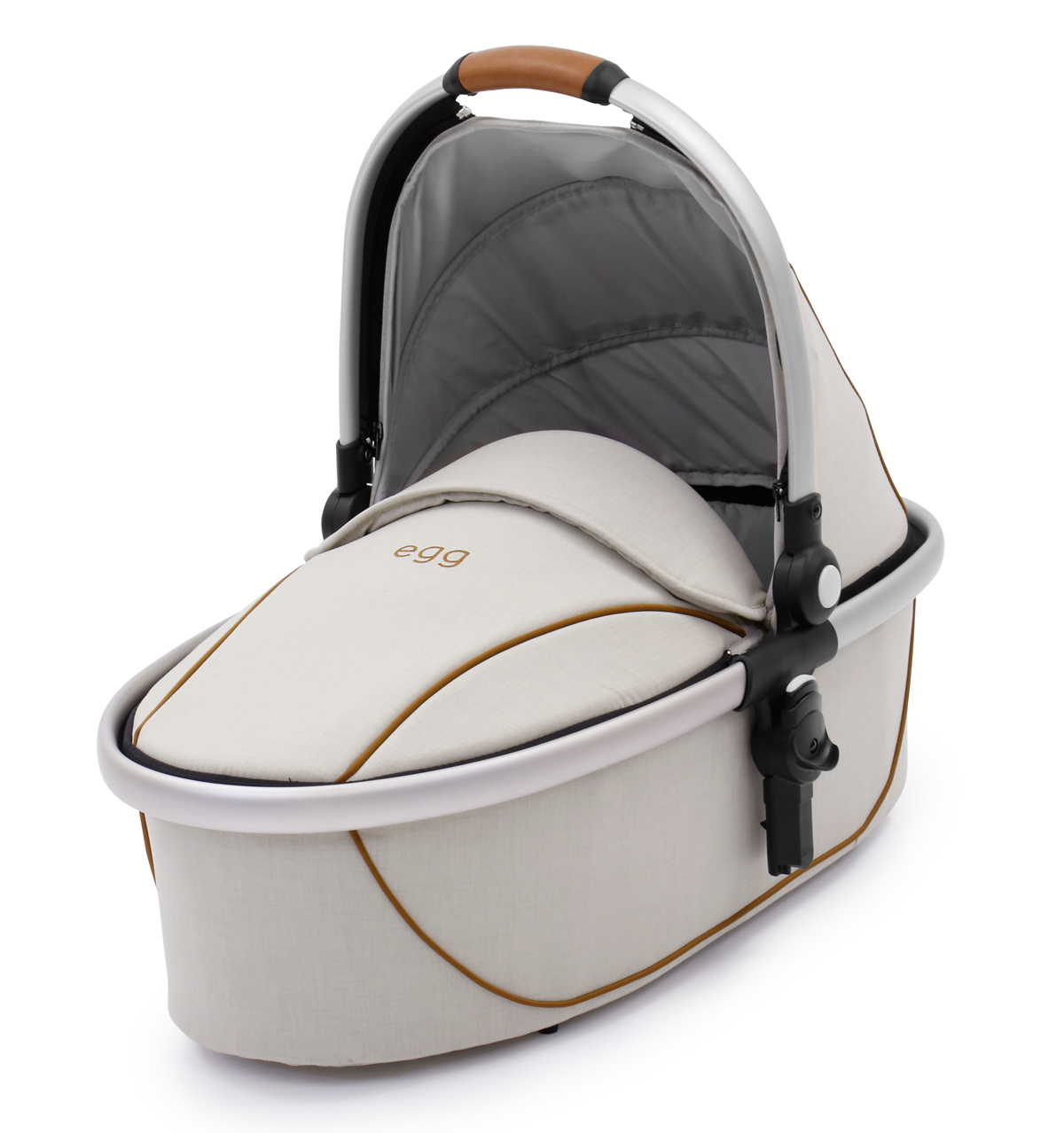 Egg Carrycot Prosecco Brushed Silver Frame