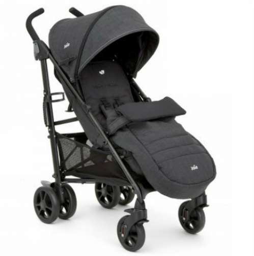 Joie Brisk LX Grey Lightweight Stroller Pushchair 0-3 Years with Footmuff & Raincover