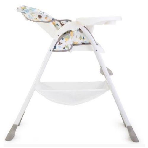 joie mimzy snacker high chair in alphabet lie flat from birth