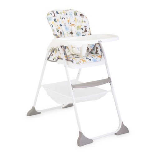joie mimzy snacker high chair in alphabet side
