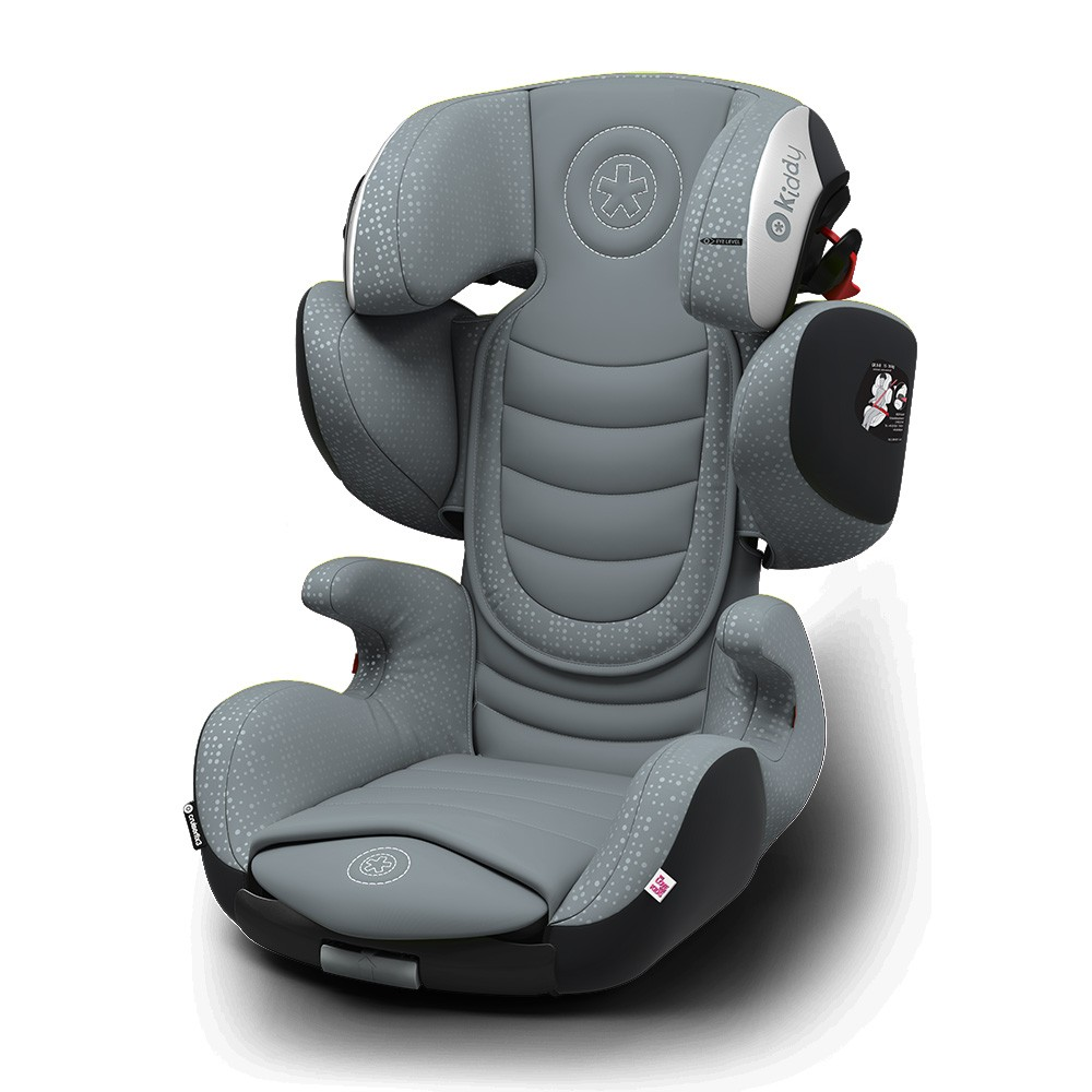 Kiddy Cruiserfix 3 Polar Grey Isofix Group 2 & 3 Child Car Seat 4 to 12 Years