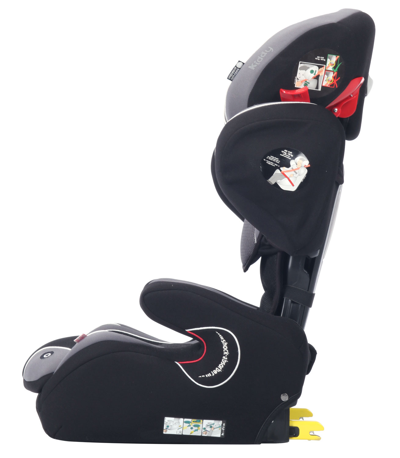 kiddy cruiserfix pro racing black isofix 4 to 12 years. Black Bedroom Furniture Sets. Home Design Ideas