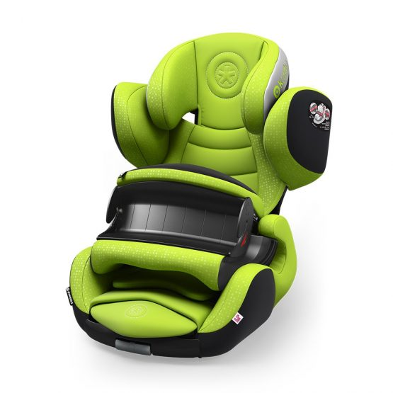 kiddy phoenixfix 3 isofix child baby car seat lime green 9 months 4 years