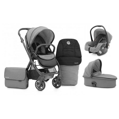 oyster 2 city grey limited edition travel system package pushchair from birth, carrycot, carseat, footmuff and changing bag