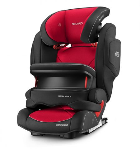Recaro Monza Nova IS Seatfix Ruby Red impact shield