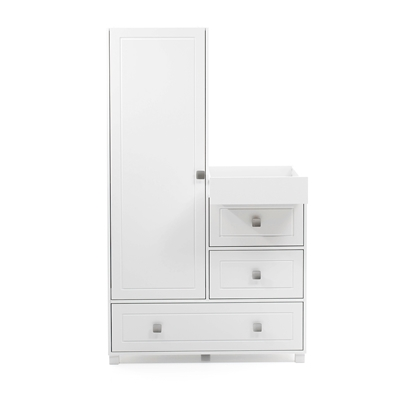 silver cross soho bedroom wardrobe and dresser unit