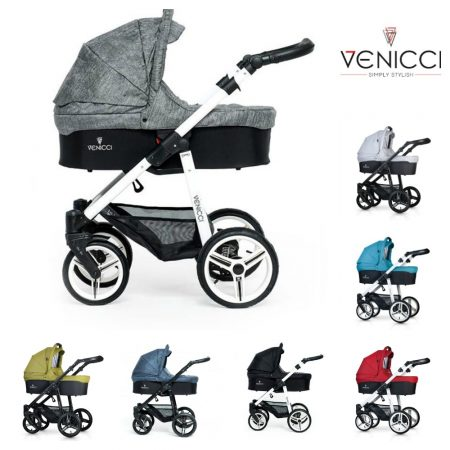 Venicci 3 in 1 Package Pushchair, Carrycot & Car Seat all colours