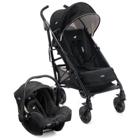 Joie Brisk Black TS pushchair with car seat