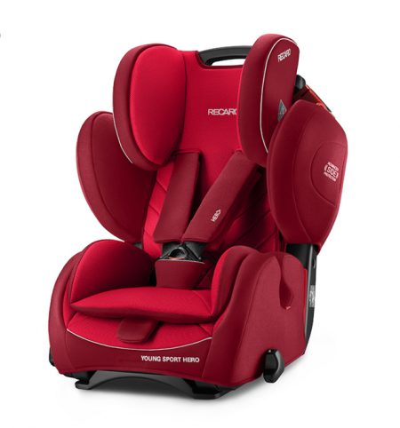 Recaro young sport hero Indy Red car seat 9 months - 12 years group 123